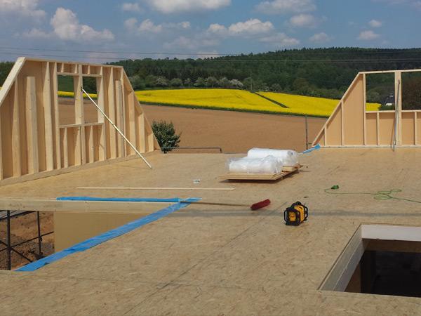Wandaufbau holzrahmenbau mit installationsebene  Holzrahmenbau - Jens Nickel Holzbau | …der Meisterbetrieb in Herborn